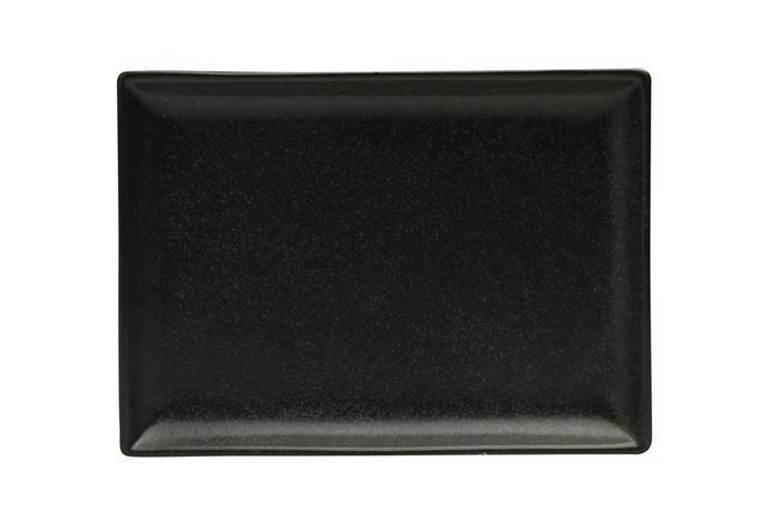 Porland Seasons Black oblong bord 18 x 13 cm