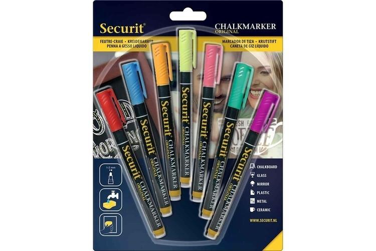 Securit krijtstift kleur mix 1-2 mm DOOS 7