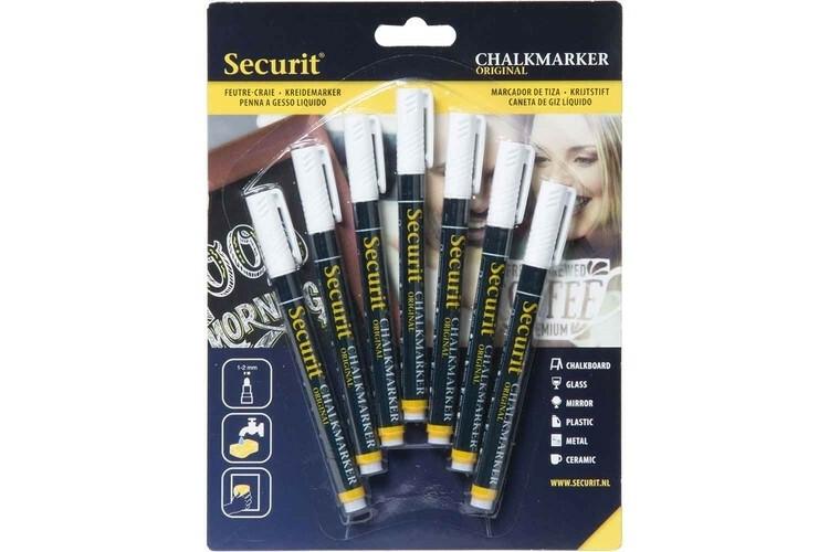 Securit krijtstift wit 1-2 mm DOOS 7