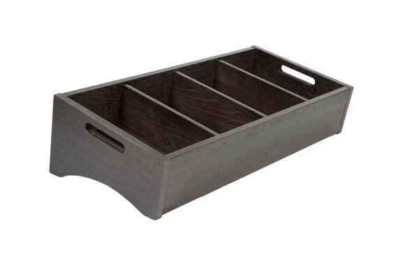 Black cutlery box large 59 x 28 cm