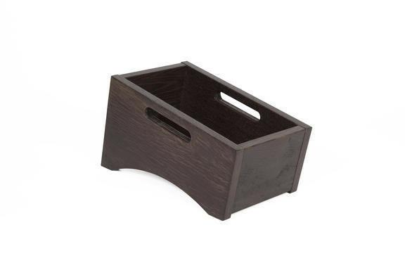 Black cutlery box single 28,5 x 16,3 cm