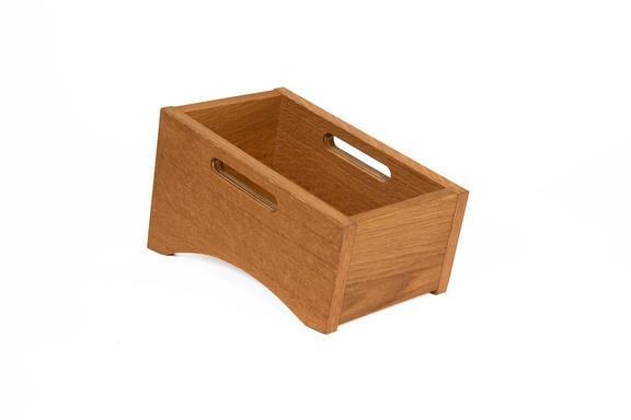 Oak linoil cutlery box single 28,5 x 16,3 cm