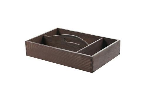 Black cutlery box with handle 3 - vaks 35 x 24 x 6,5(h) cm