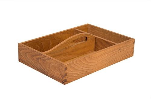 Oak linoil cutlery box with handle 3 - vaks 35 x 24 x 6,5(h) cm