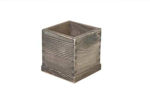 Driftwood table caddy 10 x 10 x 13(h) cm