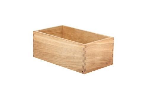 Oak linoil cutlery box 26 x 15 x 10(h) cm