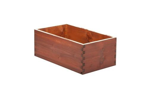 Red Brown cutlery box 26 x 15 x 10(h) cm