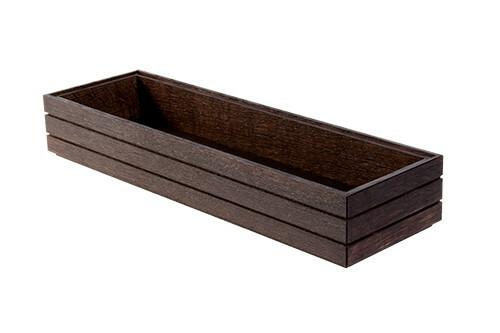 Black 2/4 GN box high stackable 53 x 16,2 x 6,5(h) cm