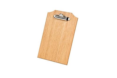 Oak linoil menu board A6 16,5 x 15,5 cm