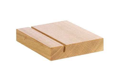 Oak linoil menu holder 12,5 x 10 x 2(h) cm