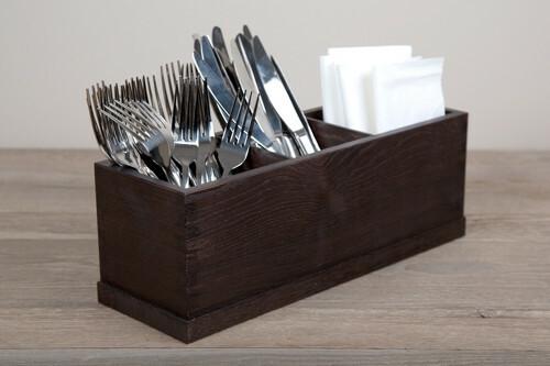 Black cutlery box 3 - vaks 36,5 x 12,5 x 13(h) cm