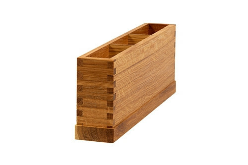 Oak linoil cutlery box 3 - vaks 36,5 x 6 x 13(h) cm