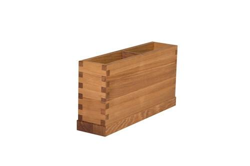 Oak linoil cutlery box 2 - vaks 26 x 6 x 13(h) cm