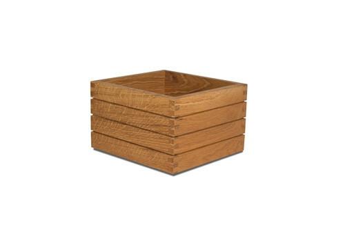 Oak linoil buffet box 20 x 20 x 15,8(h) cm
