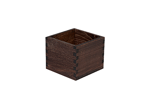 Black table caddy 12 x 12 x 10(h) cm