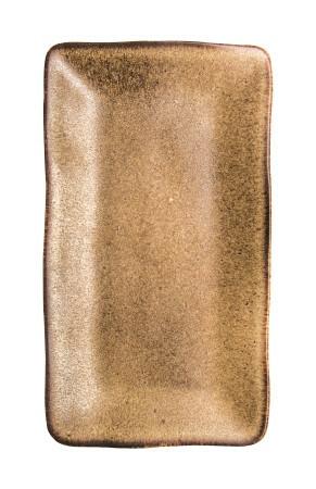 Q Authentic Stonebrown bord RH 27,5 x 15,5 cm