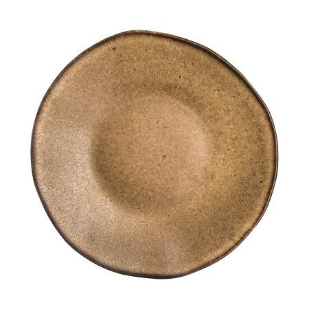 Q Authentic Stonebrown bord plat 21 cm