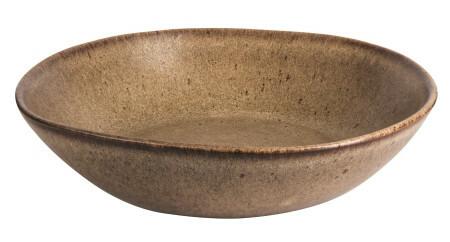 Q Authentic Stonebrown pasta/soep bord 22 cm