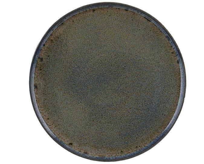 Q Authentic Stoneblue bord opstaande rand 26,5 cm