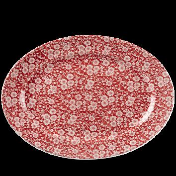 Churchill Vintage Cranberry Victorian Calico Oval Dish 36.5 cm