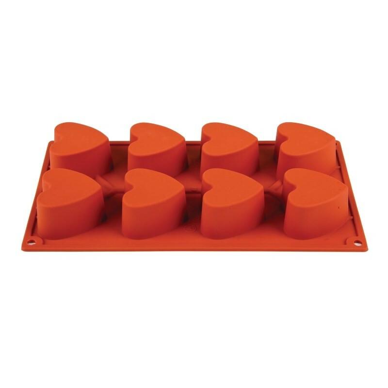 Pavoni 8 hartvormen 1/3 GN 6,5 x 6 x 3,5(diep) cm