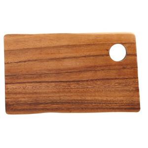 plank rechthoek acacia 24 x 14 x 2 cm met gat