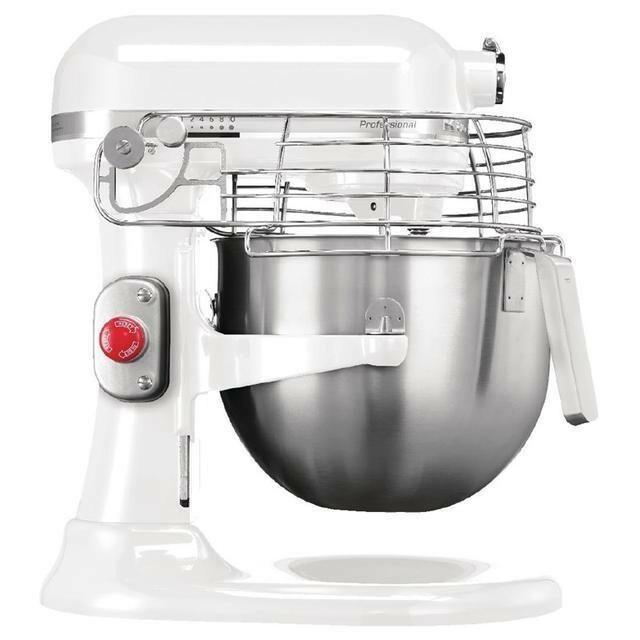 KitchenAid K7 professionele mixer-keukenrobot 6,9 Ltr wit met beveiliging