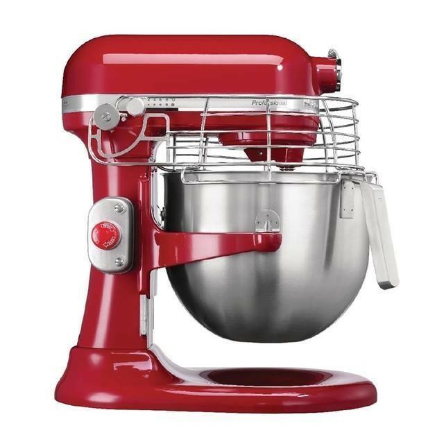 KitchenAid K7 professionele mixer-keukenrobot 6,9 Ltr rood met beveiliging