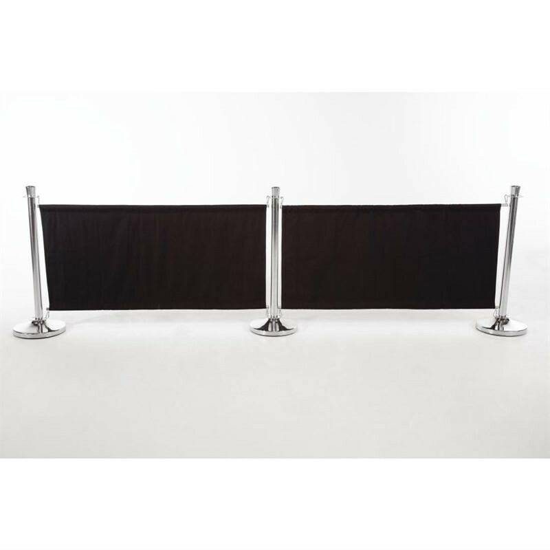 afzetdoek zwart 143 x 70(h) cm