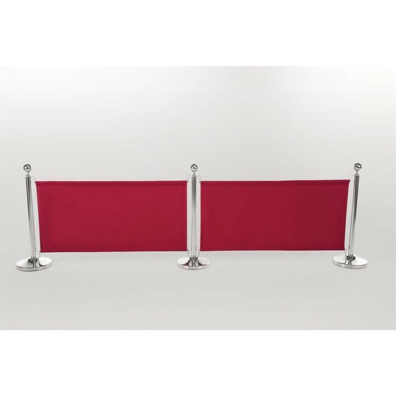 afzetdoek rood 143 x 70(h) cm