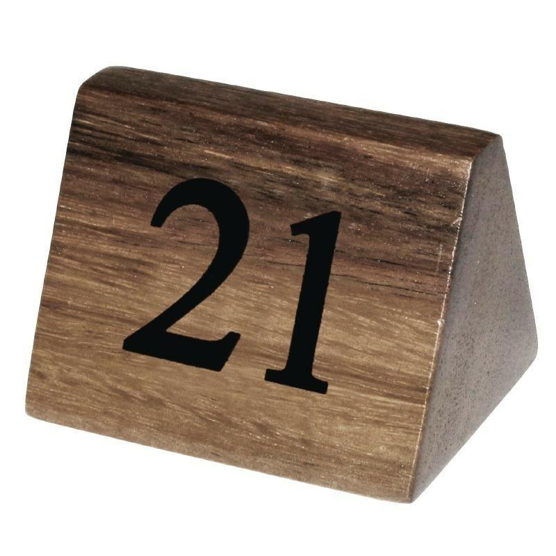 tafelnummers hout 21 - 30 3,5 x 3,5 x 5,5(h) cm DOOS 10