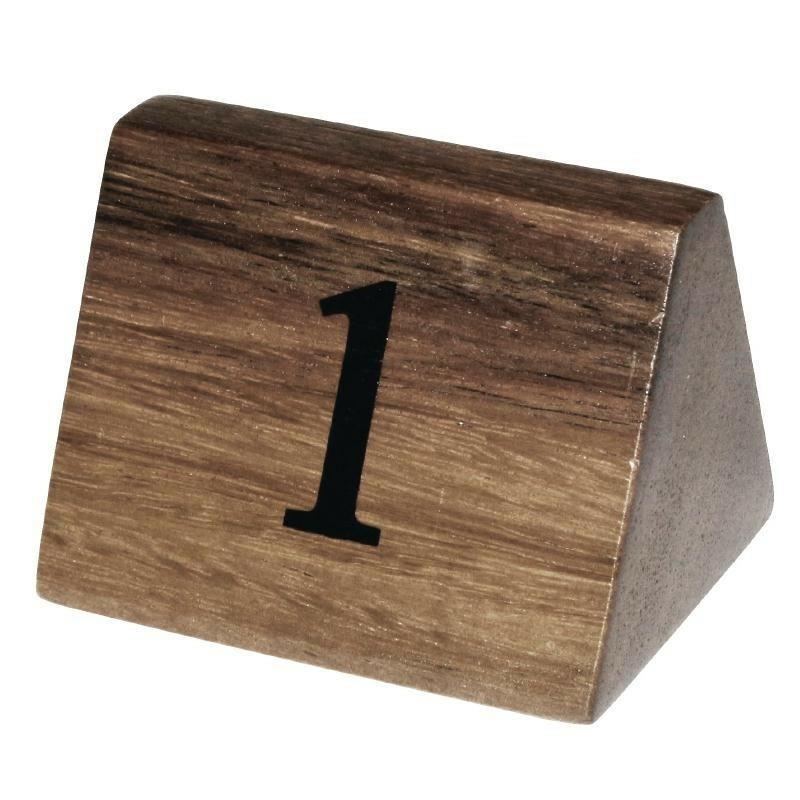 tafelnummers hout 1 - 10 3,5 x 3,5 x 5,5(h) cm DOOS 10