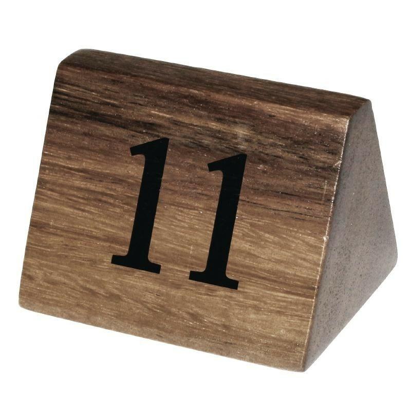 tafelnummers hout 11 - 20 3,5 x 3,5 x 5,5(h) cm DOOS 10