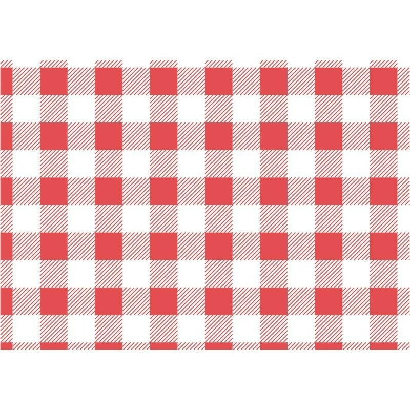 vetvrij papier Gingham rood 25 x 25 cm DOOS 200