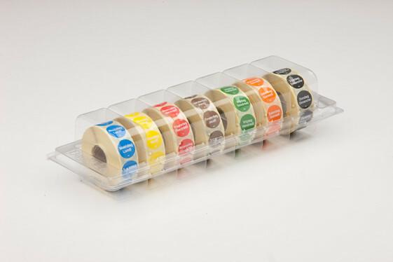 Daymark HACCP permanent stickers rond 19 mm dag aanduiding dispenser 7 x 1000