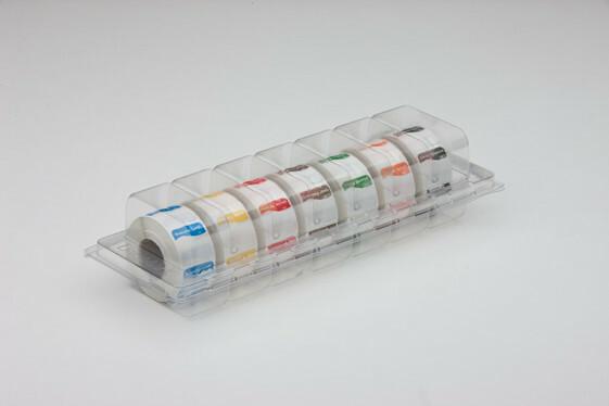 Daymark HACCP oplosbaar stickers VK 25 dagaanduiding dispenser 7 x 1000