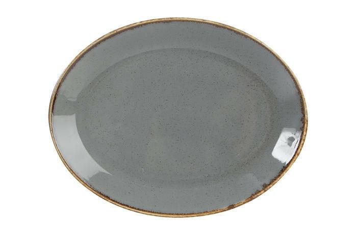 Porland Seasons Dark Grey ovaal bord 24 x 19 cm