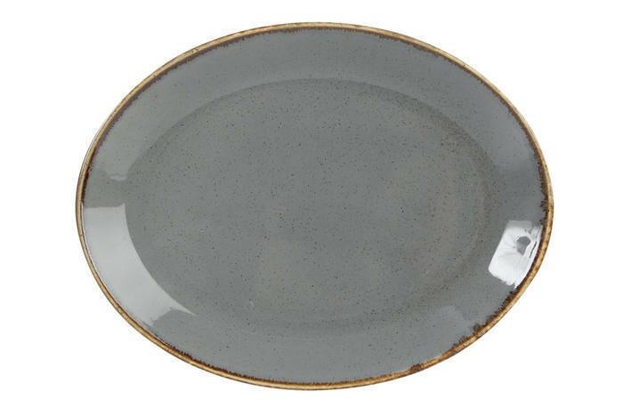 Porland Seasons Dark Grey ovaal bord 31 x 24 cm