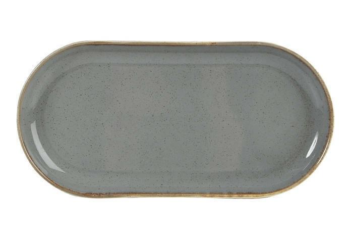 Porland Seasons Dark Grey oblong bord 30 x 15 cm