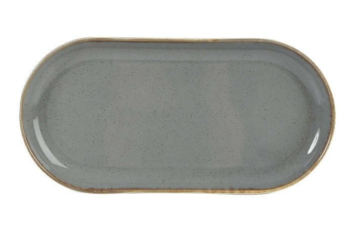 Porland Seasons Dark Grey oblong bord 32 x 20 cm