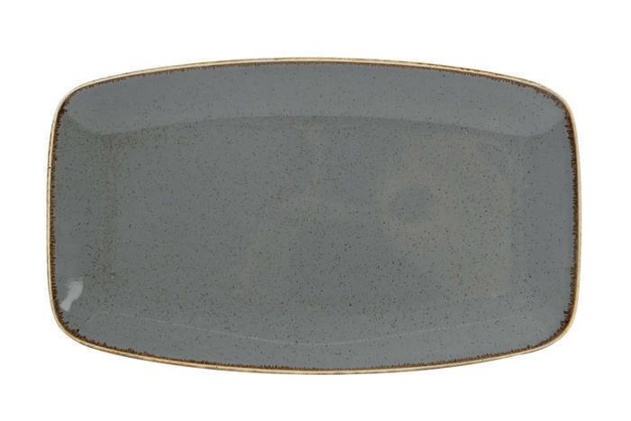 Porland Seasons Dark Grey oblong bord 31 x 18 cm