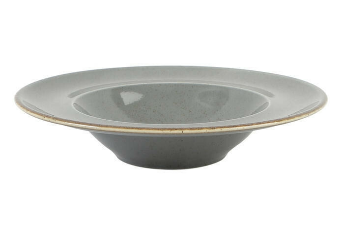 Porland Seasons Dark Grey bord diep brede rand 25 cm