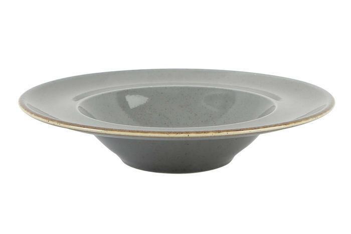 Porland Seasons Dark Grey bord diep brede rand 30 cm