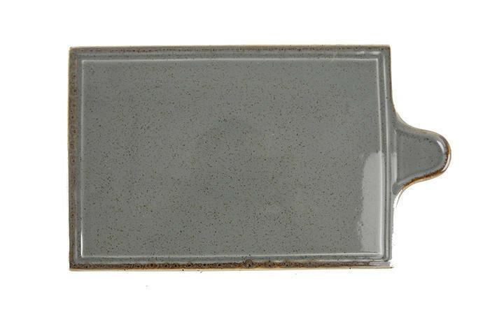 Porland Seasons Dark Grey oblong bord met greep 30 x 18 cm