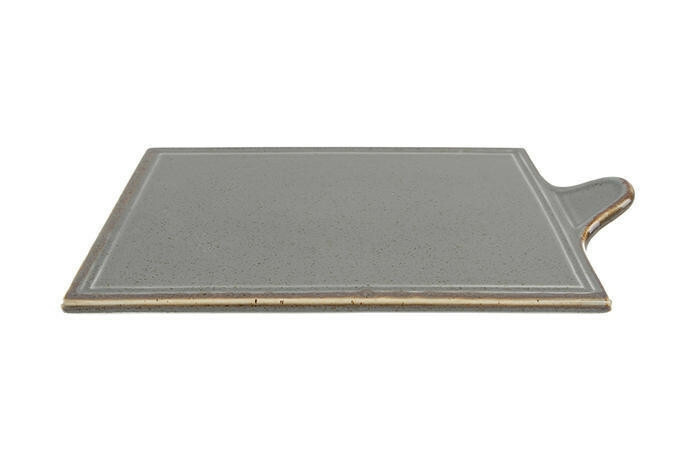 Porland Seasons Dark Grey oblong bord met greep 34 x 21 cm