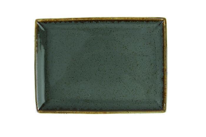 Porland Seasons Dark Grey oblong bord 18 x 13 cm