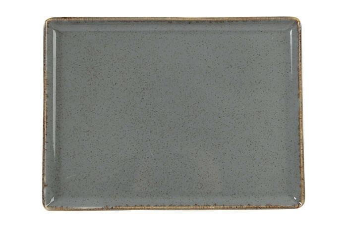 Porland Seasons Dark Grey oblong bord 27 x 21 cm