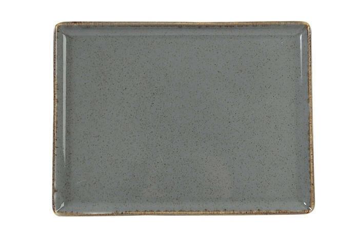 Porland Seasons Dark Grey oblong bord 35 x 25 cm
