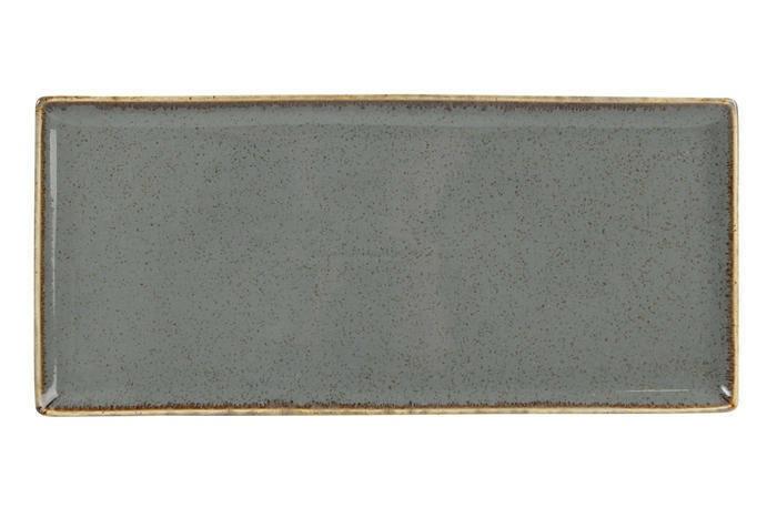 Porland Seasons Dark Grey oblong bord 35 x 16 cm