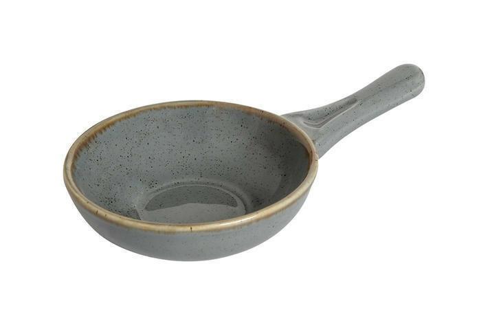 Porland Seasons Dark Grey bowl met steel 14 cm